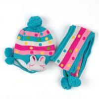 秋冬款儿童帽子  婴儿护耳帽子   男女童宝宝围巾两件套