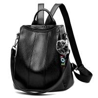 多功能双肩包包女2018新款韩版潮软皮个性百搭背包时尚单肩两用包SN1168