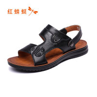 【红蜻蜓618开门红、领�患�100】红蜻蜓男鞋夏季新款凉鞋真皮沙滩男士鞋皮凉拖两用凉鞋