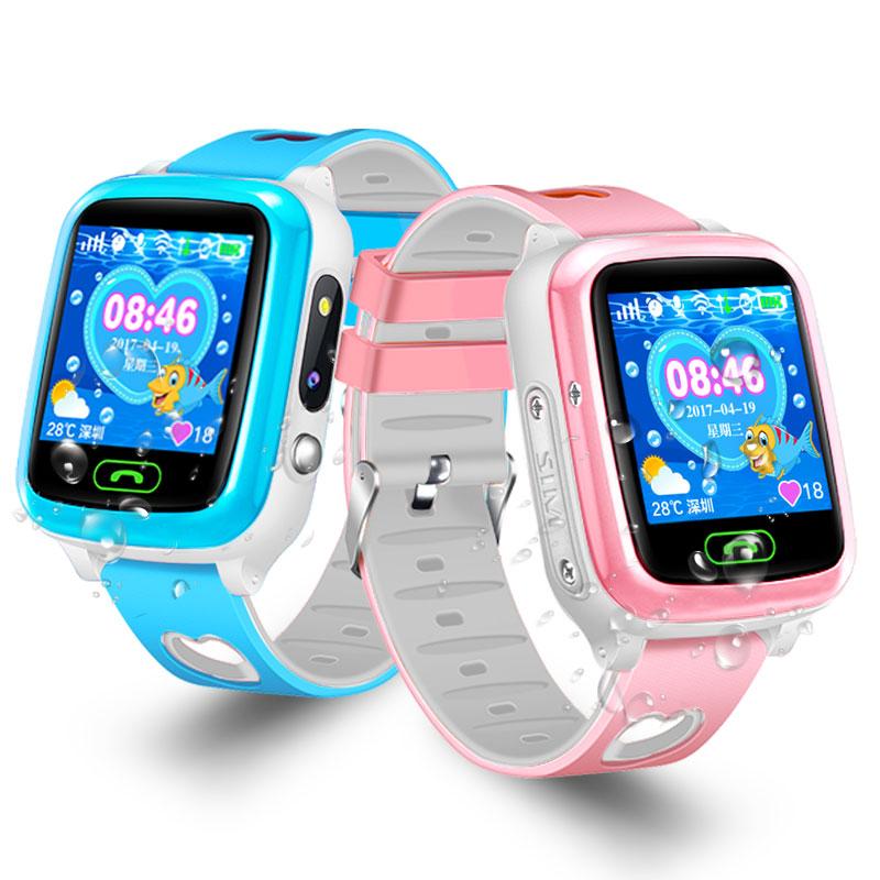 儿童电话手表防水智能GPS定位男女孩小学生手机多功能 双向通话  语音微聊