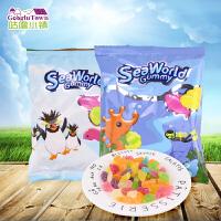 【满99减50元】泰国进口尚合兴快乐海洋软糖20g 橡皮糖混合水果味糖果儿童小零食