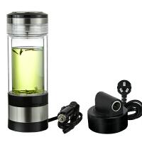 车载电热杯烧水壶加热杯电热水杯车家两用双层玻璃加热保温杯