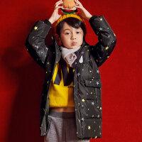 【2件2.5折到手价:112.25,2月19日0点开抢】美特斯邦威旗下moomoo童装男童羽绒服新款冬装鸭绒星星韩版潮