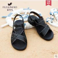 富贵鸟新款男士两用凉鞋男皮凉鞋男鞋夏季沙滩鞋真皮休闲凉拖鞋