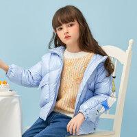 【1件4折价:107.6】moomoo童装女童毛衣冬装新款儿童毛茸茸毛衫女孩洋气保暖套头上衣