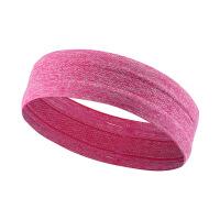 运动发带 男女跑步马拉松发箍健身瑜伽运动头带止汗带头带导汗带 枚红色 3*15cm