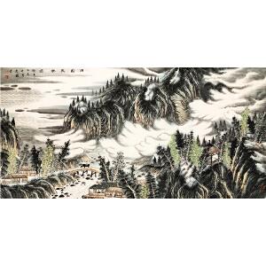 曾先国《田园牧歌图》著名画家