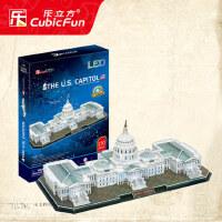 乐立方3d立体拼图 益智成人拼图 智力模型拼装玩具 立体建筑模型