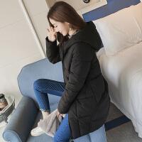 冬装新款棉衣女中长款韩版宽松大码棉袄学生可爱外套面包服潮 M 80-105斤
