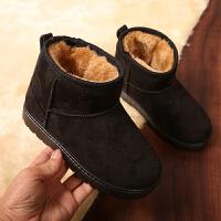 儿童雪地靴儿童棉鞋加绒男女童短靴防滑软底鞋小孩宝宝加厚冬季鞋