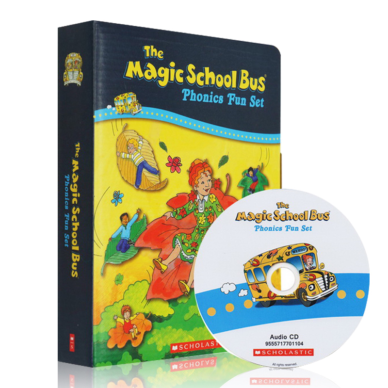 Magic School Bus Phonics Fun Set 神奇校车自然拼读法套装 ISBN9555717701098 含12本书及配套正版进口音频