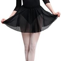 芭蕾舞半身裙 儿童舞蹈服雪纺跳舞腰围网纱裙松紧小围裙芭蕾舞配件练功服 黑色 S(儿童款)