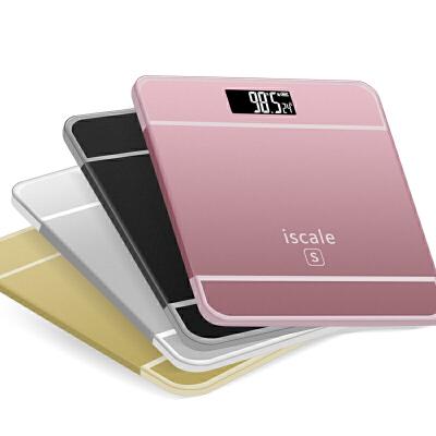 电子秤家用体重称健康减肥称重精准女生人体称usb可充电6s是电池款 / plus是充电款
