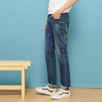 【1件4折到手价:55.6】美特斯邦威牛仔裤男装秋季新款裤子男韩版潮流修身休闲长裤