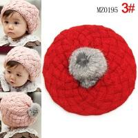 宝宝儿童贝雷针织帽毛线帽帽子 均码