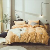 床上四件套冬季珊瑚绒加厚保暖丽丝绒床单被套水晶绒四件套1.8m床