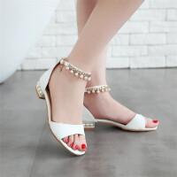 夏季新款儿童凉鞋女童高跟鞋韩版中大童学生公主鞋
