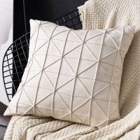 北欧风格纯色飘窗抱枕靠垫客厅沙发枕头样板房靠枕套不含芯正方形