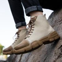 单鞋 英伦风工装鞋复古男士单鞋2020新款马丁户外潮男士运动休闲鞋子男鞋子