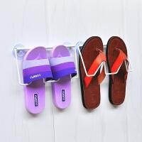 浴室拖鞋架挂鞋收纳架子门后放拖鞋挂钩墙壁沥水支架 白色 吸盘款