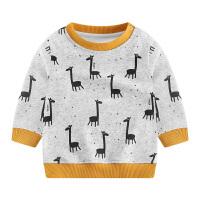 儿童秋冬装女童长袖t恤男宝宝加绒保暖上衣小童打底衫卫衣