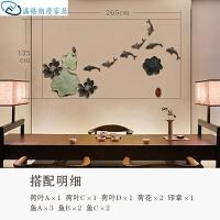 墙壁装饰挂件背景墙客厅创意中式餐厅玄关壁饰立体装饰品挂件墙上复古墙面组合