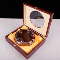 智能多功能新款创意礼品烟灰缸定制logo感应点烟器 +紫礼盒+手提袋