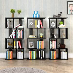 富兰迪 环保加厚现代创意S型书柜 亲子儿童学生DIY多层书橱组合收纳架落地置物架