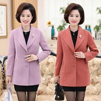 中老年女装春装西装外套中年女士中长款夹克30-40-50岁妈妈装风衣