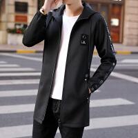 风衣男中长款连帽春天外套男外套男 韩版修身青少年夹克 潮流
