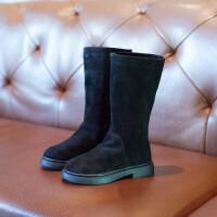 2018新款女童鞋秋冬长靴儿童马丁靴高筒靴子女孩公主二棉过膝单靴