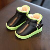 防水防滑儿童雪地靴短筒户外男童女童2019新款冬季加绒保暖厚棉鞋srr