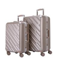 拉杆箱万向轮24英寸铝框皮箱旅行箱女行李箱20英寸包硬箱复古登机箱百搭休闲潮流密码箱