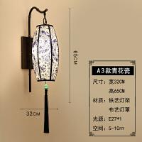 新中式壁灯床头灯创意墙壁过道楼梯卧室客厅铁艺复古LED走廊灯具