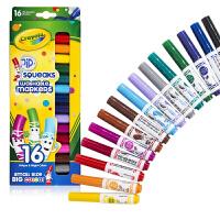 Crayola绘儿乐 58-8703 可水洗16色短杆粗头水彩笔 当当自营