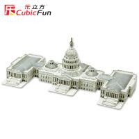 乐立方3D立体拼图仿真纸模型美国国会大厦 建筑模型拼装玩具MC074