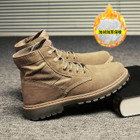秋季男士马丁靴男高帮男鞋雪地中帮靴子工装鞋沙漠英伦潮冬季