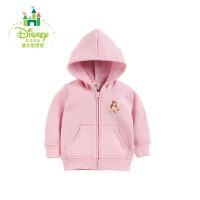【专区3件7折 到手价:55.3元】迪士尼Disney 男女童外套婴儿卫衣宝宝上衣外出服长袖开衫153S695