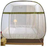 蚊帐蒙古包免安装方顶三开门加密加厚学生夏季防蚊虫蚊帐四季可用易打理折叠1.21.5m1.8米双人床