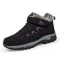 冬季妈妈鞋加绒保暖老人鞋软底中老年运动鞋安全奶奶鞋棉鞋女