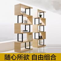 铁艺客厅隔断书架置物架 现代简约书柜自由组合 落地展示架储物架o6d