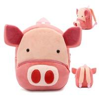 可爱毛绒迷你双肩小包包1-3-4岁婴儿童背包男童女宝宝幼儿园书包