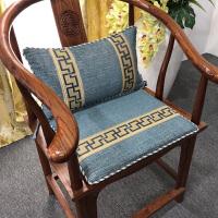 中式椅垫红木椅子坐垫四季布艺家用垫子圈椅垫防滑实木凳子餐椅垫