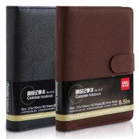 得力笔记本 3151皮面笔记本 活页本加厚记事本商务办公学生日记本