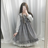 秋冬日系软妹萝莉日常Lolita洛丽塔洋装op可爱甜美连衣裙复古宫廷xx