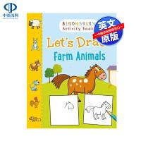 英文原版 让我们画农场动物(阿德拉德・科尔斯)Let's Draw Farm Animals (Adlard Coles