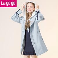【清仓3折价259.8】Lagogo/拉谷谷2019年冬季新款时尚大衣GCDD259C41
