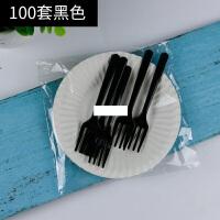 餐具盘叉组一次性塑料叉碟套装生日刀叉盘组合纸盘