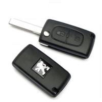 东风标致307 408钥匙壳 雪铁龙凯旋 世嘉汽车折叠遥控器锁匙外壳