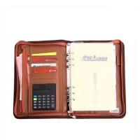艾奴 带计算器 商务经理包 活页记事本A6 A5 B5 可选 男士 经理夹 拉链包3181